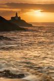 Mumbles Lighthouse  Bracelet Bay  Gower  Swansea  Wales  United Kingdom  Europe