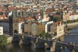Elevated View of the Charles Bridge  UNESCO World Heritage Site  Prague  Czech Republic  Europe