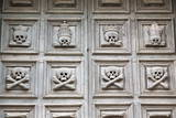 Door with Skulls  Purgatory Church  in the Sassi Area of Matera  Basilicata  Italy  Europe
