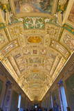 Frescoes on the Ceiling of the Gallery of the Maps  Vatican Museums  Rome  Lazio  Italy  Europe