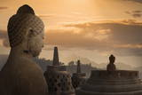 Borobudur Buddhist Temple  UNESCO World Heritage Site  Java  Indonesia  Southeast Asia