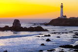 Pigeon Point Lighthouse at Sunset  California  United States of America  North America