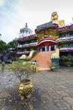 Entrance to Dambulla Museum with Caves Beyond  Dambulla  Sri Lanka  Asia