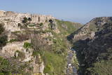 View of Sant'Agostino Convent in the Sassi Area of Matera and Ravine  Basilicata  Italy  Europe
