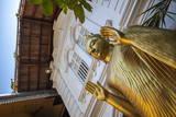 Golden Statue at the Entrance of Gangaramaya Temple  Colombo  Sri Lanka  Asia