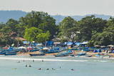 Outrigger Fishing Boats at the Town Beach of This Major South Coast Resort