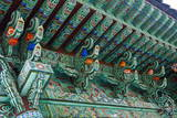 Colourful Painted Ceiling  Beopjusa Temple Complex  South Korea  Asia