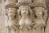 Statue of Angels Outside a Church in the Baroque City of Lecce  Puglia  Italy  Europe