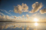 Cloud Reflections at Constantine Bay at Sunset  Cornwall  England  United Kingdom  Europe