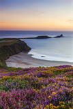Rhossili Bay  Worms End  Gower Peninsula  Wales  United Kingdom  Europe