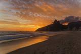Ipanema Beach at Sunset  Rio De Janeiro  Brazil  South America