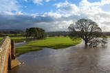 Floodwaters  Lazonby Bridge  River Eden  Eden Valley  Cumbria  England  United Kingdom  Europe