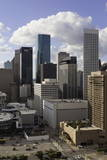 Downtown City Skyline  Houston  Texas  United States of America  North America