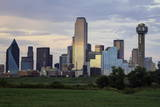 Dallas City Skyline and the Reunion Tower  Texas  United States of America  North America