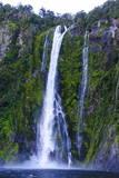 Huge Waterfall in Milford Sound