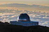 Observatory on Mauna Kea at Sunset  Big Island  Hawaii  United States of America  Pacific