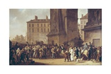 Conscripts of 1807 Marching Past the Gate of Saint-Denis