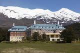 Chateau Tongariro Hotel and Mount Ruapehu