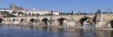 River Vltava with Charles Bridge and the Castle District with St Vitus Cathedral and Royal Palace