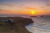 Rhossili Bay  Worms End  Gower  Wales  United Kingdom  Europe