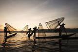 Intha Fishermen at Sunset