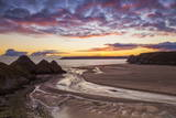 Three Cliffs Bay  Gower  Wales  United Kingdom  Europe