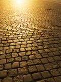 Cobblestones  Prague Czech Republic  Europe