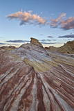 Red and White Sandstone Stripes at Sunrise