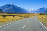 Road Leading to Mount Cook National Park  South Island  New Zealand  Pacific