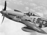 P-51 Mustang Fighter Plane in Flight it Was a World War 2 Era Long-Range