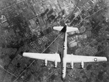 American B-29 Super Fortress Bomber over Nakajima Aircraft Co
