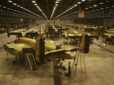B-25 Bombers on the Assembly Line at North American Aviation During World War 2