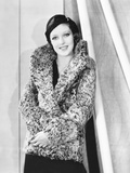Loretta Young in Grrey Curly Caracul Sports Coat and Black Hat