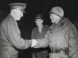 General Dwight Eisenhower Shakes Hands with Gen