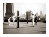 Une Partie de Deck - Tennis Sur la Terrasse Du Toit de L'Hotel Delmonico de New York  1925