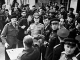 Allied Chiefs at General Eisenhower's Headquarters at Frankfurt