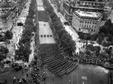 American Army Marches on the Champ Elysees