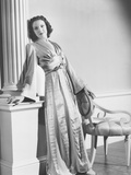 Linda Darnell in a Tea Gown Designed by Royer