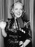 Alice Faye at the Cbs Microphone