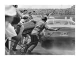Stock Car in Pit Stop  Daytona  Florida 1974