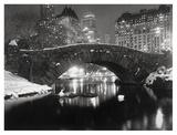 Bridge in Central Park  NYC  1957
