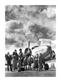 Passenger at Aviation Field at Newark NJ  1940S