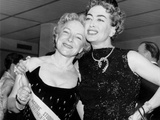 Helen Hayes  Joan Crawford  at the Premiere of the Rose Tattoo  New York