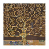 Tree of Life (Brown Variation) II Reproduction d'art par Gustav Klimt