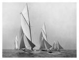 Sailboats Sailing Downwind  CA 1900-1920