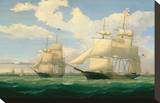 "The Ships ""Winged Arrow"" and ""Southern Cross"" in Boston Harbor  1853"