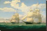 """The Ships """"Winged Arrow"""" and """"Southern Cross"""" in Boston Harbor  1853"""