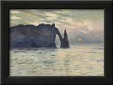 The Cliff  Etretat  Sunset  1883