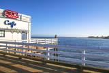 Cafe in Malibu Pier  Los Angeles  USA