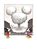Mickey and Minnie looking at a Mouse Shaped Tree